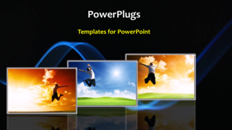 PowerPoint Template - An abstract concept